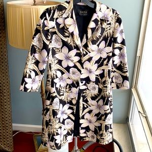 Dana Buchman silk jacket duster floral print